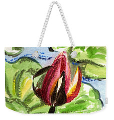 Weekender Tote Bag featuring the painting A Birth Of A Life by Harsh Malik