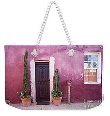 Weekender Tote Bag featuring the photograph A Bit Of Brightness Down The Lane by Linda Lees