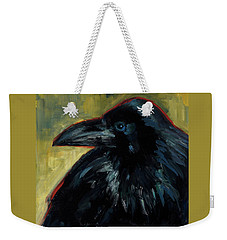 Weekender Tote Bag featuring the painting A Black Tie Affair by Billie Colson