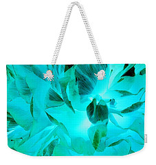 A Bloom In Turquoise Weekender Tote Bag