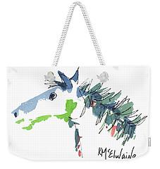A Blue Roan Horse Watercolor Painting By Kmcelwaine Weekender Tote Bag