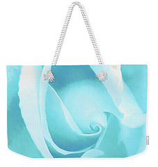 A Blue Rose - Romantic Abstract Art Weekender Tote Bag