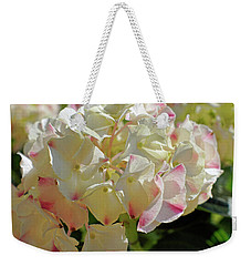 Weekender Tote Bag featuring the photograph A Blush Of Pink by Cricket Hackmann