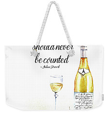 A Bottle Of White Wine Weekender Tote Bag