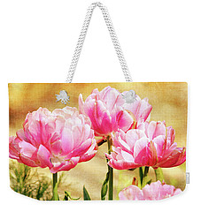 A Bouquet Of Tulips Weekender Tote Bag by Trina Ansel