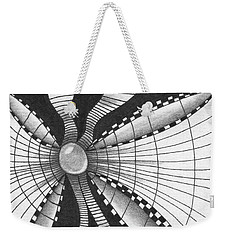 Weekender Tote Bag featuring the drawing A Bow Of Boze by Jan Steinle