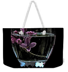 A Bowl Of Lilacs Weekender Tote Bag by Marija Djedovic
