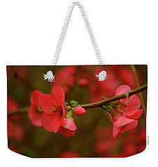 A Branch Of Quince Weekender Tote Bag by John Harding