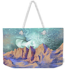 Weekender Tote Bag featuring the painting A Breath Of Tranquility by S G