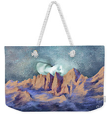 Weekender Tote Bag featuring the painting A Breath Of Tranquility by Sgn