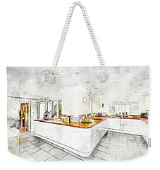 A Bright White Kitchen Weekender Tote Bag