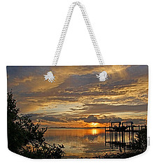 Weekender Tote Bag featuring the photograph A Brooding Sunset Sky by HH Photography of Florida