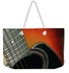 Weekender Tote Bag featuring the photograph  Guitar  Acoustic Close Up by Bruce Stanfield