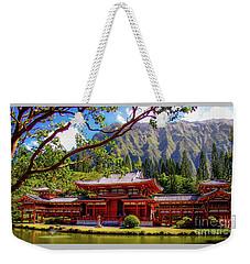 Buddhist Temple - Oahu, Hawaii - Weekender Tote Bag