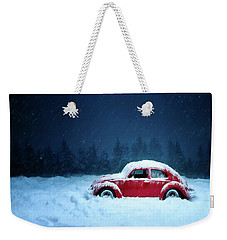 A Bug In The Snow Weekender Tote Bag