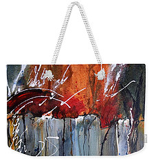 A Burning Issue Weekender Tote Bag by Nancy Jolley