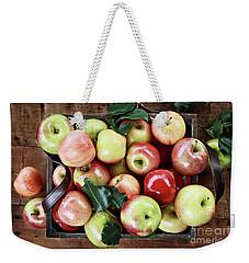 A Bushel Of Apples  Weekender Tote Bag by Stephanie Frey