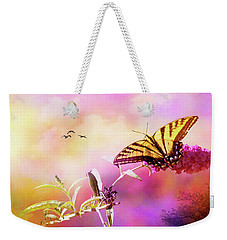 A Butterfly Good Morning Weekender Tote Bag