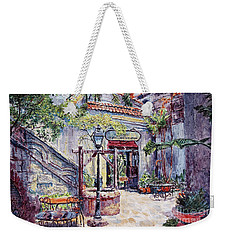 Cafe By The Hotel, Intramuros, Manila Weekender Tote Bag