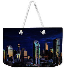 Weekender Tote Bag featuring the photograph A Calgary Sunrise by Brad Allen Fine Art