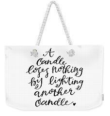 A Candle Weekender Tote Bag