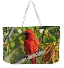 A Cardinal Named Carl Weekender Tote Bag