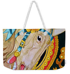 A Carousel Horse Weekender Tote Bag by Rand Swift