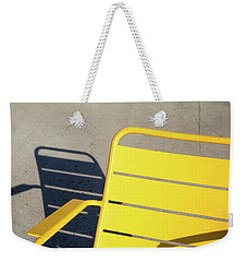 A Chair And Its Shadow Weekender Tote Bag by Joseph S Giacalone