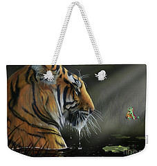 Weekender Tote Bag featuring the digital art A Chance Encounter II by Don Olea