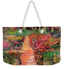 A Charming Path Weekender Tote Bag by Mindy Newman