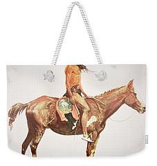 A Cheyenne Brave Weekender Tote Bag