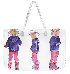 A Childs Pose Weekender Tote Bag