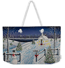 A Christmas Eve Weekender Tote Bag