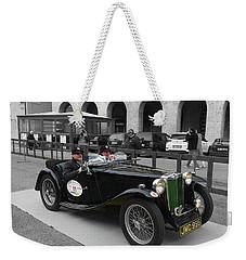 A Classic Vintage British Mg Car Weekender Tote Bag