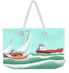 A Close Encounter Weekender Tote Bag