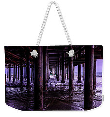 A Cloudy Day Under The Pier Weekender Tote Bag