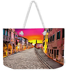 A Cobblestone Street In Venice Weekender Tote Bag