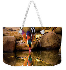 A Cold Drink - Mandarin Drake Weekender Tote Bag