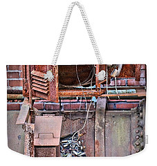 Weekender Tote Bag featuring the photograph A Collaboration Of Rust by DJ Florek