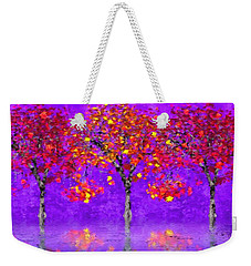 A Colorful Autumn Rainy Day Weekender Tote Bag