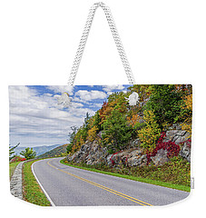 A Colorful Curve On Skyline Drive Weekender Tote Bag