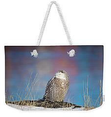 A Colorful Snowy Owl Weekender Tote Bag