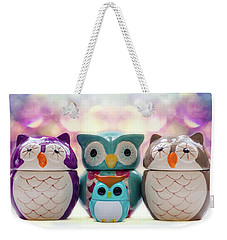 A Colourful Parliament Of Owls Weekender Tote Bag