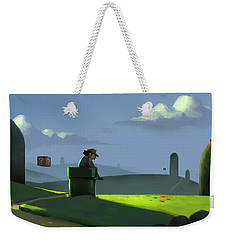A Contemplative Plumber Weekender Tote Bag