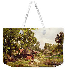 A Cottage Home In Surrey Weekender Tote Bag by Edward Henry Holder