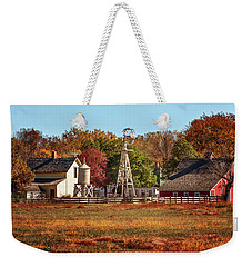 Weekender Tote Bag featuring the photograph A Country Autumn by Susan Rissi Tregoning