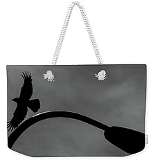 A Crow And A Streetlight Weekender Tote Bag