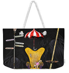 A Curious Bus Stop Weekender Tote Bag