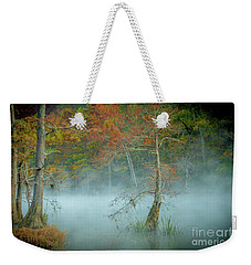 Weekender Tote Bag featuring the photograph A Dancing Cypress by Iris Greenwell