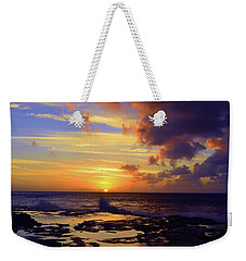 Weekender Tote Bag featuring the photograph A Dark Cloud Among Colour by Tara Turner